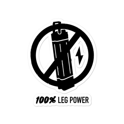 Leg power sticker